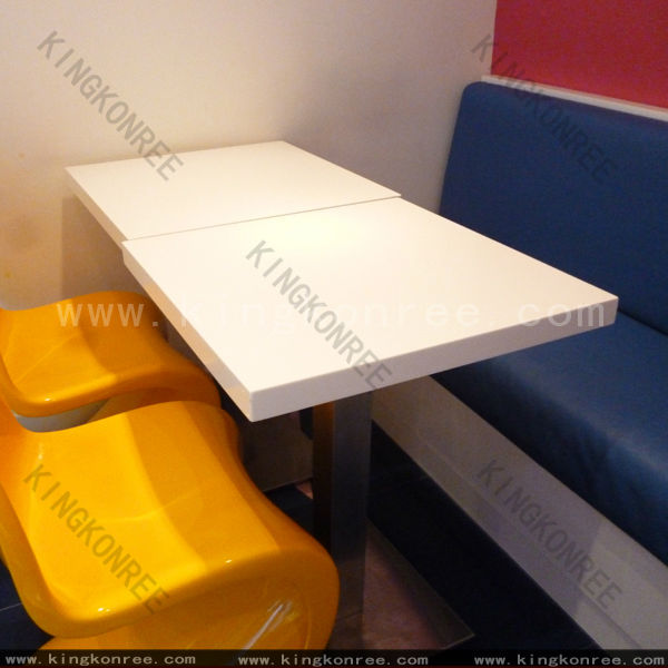 simple square artificial granite solid surface table top