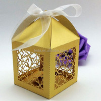 2015Teda Decorative Pearl Gold Cupcake box(zh-011)