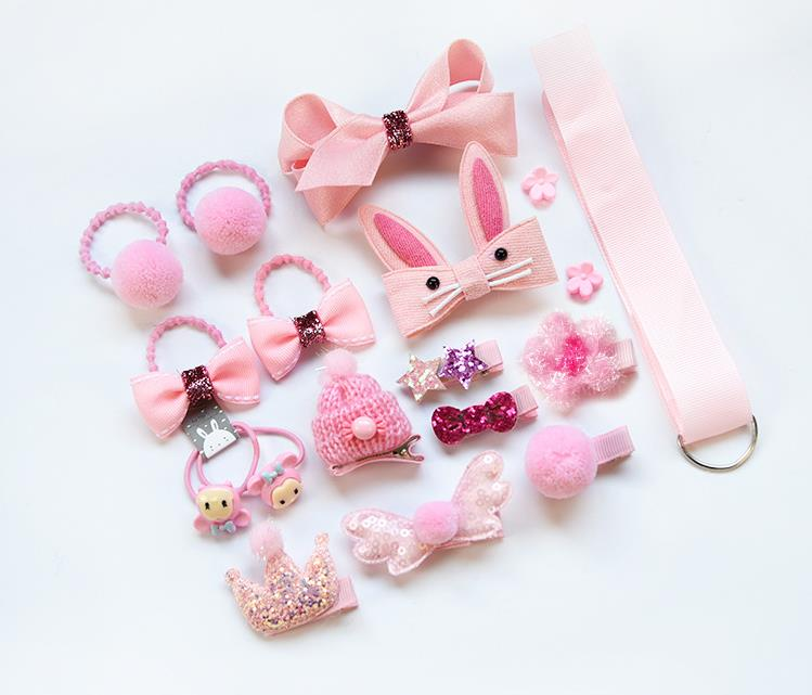 kids <strong>hair</strong> <strong>accessories</strong> sets cute girl's gift box leather band hairpin