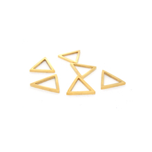 Stainless steel gold color triangle shape items charm for bracelets