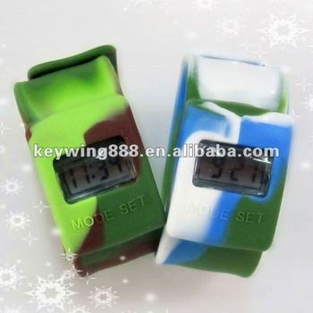 Fashion!!! Colorful Waterproof Silicone Slap Digital Watch