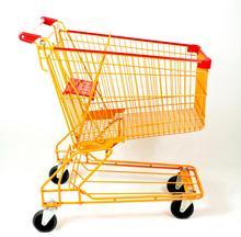Chrome Plating 150L Asian Style Shopping Trolley
