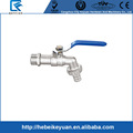 Stainless Steel Curved Ball Tap with Hose Ring
