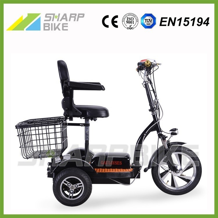 Motorized 500w three-wheeler electric bicycle, electric bicycle 3 wheel, tricycle electric bicycle