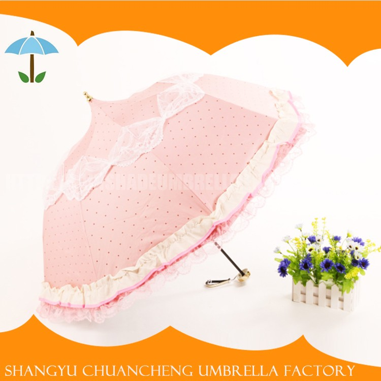 Factory Directly Provide Strong Umbrella Dress Pattern Folding Umbrella