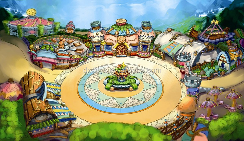 Tianjin Fei Cui City Theme Park Design