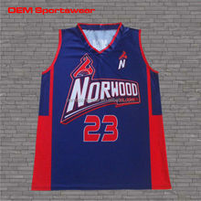 Sublimated european dry fit basketball uniform