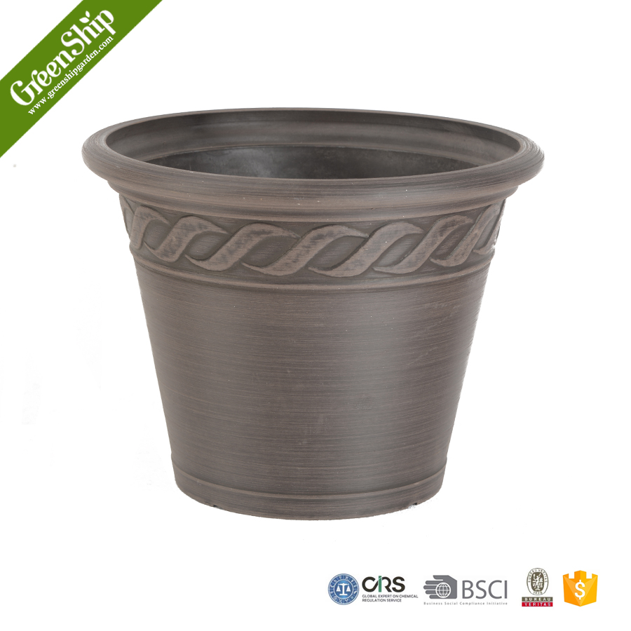 Nursery reasonably priced plastic flower pot recycled for Recycled flower pots