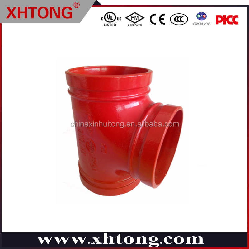 equall tee good quality and price XHTONG brand grooved connection equal shape made in China UL FM