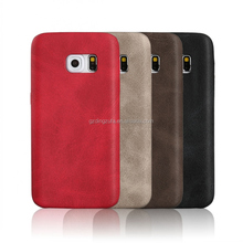 wholesale PU mobile phone back cover leather case for samsung galaxy S7