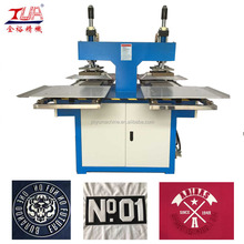 automatic 8 ton silicone rubber machine for making brand/logo on garment/fabric