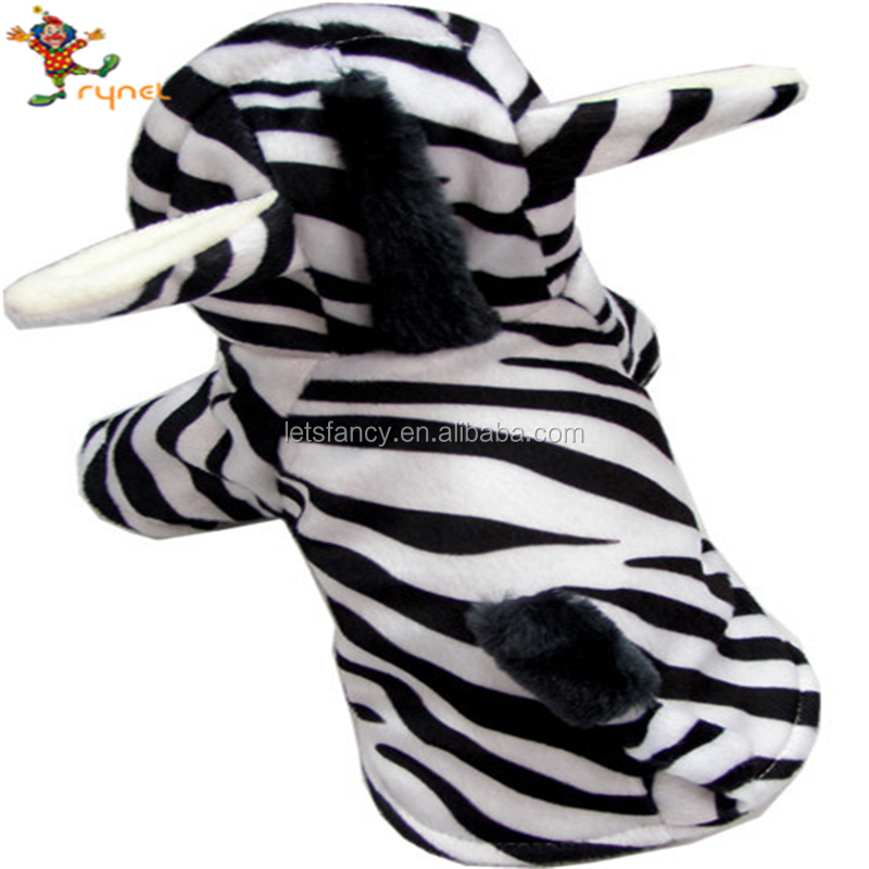 PGPC0228 Autumn/Winter Pet Clothes Black White Zebra Cosplay Dog Clothes