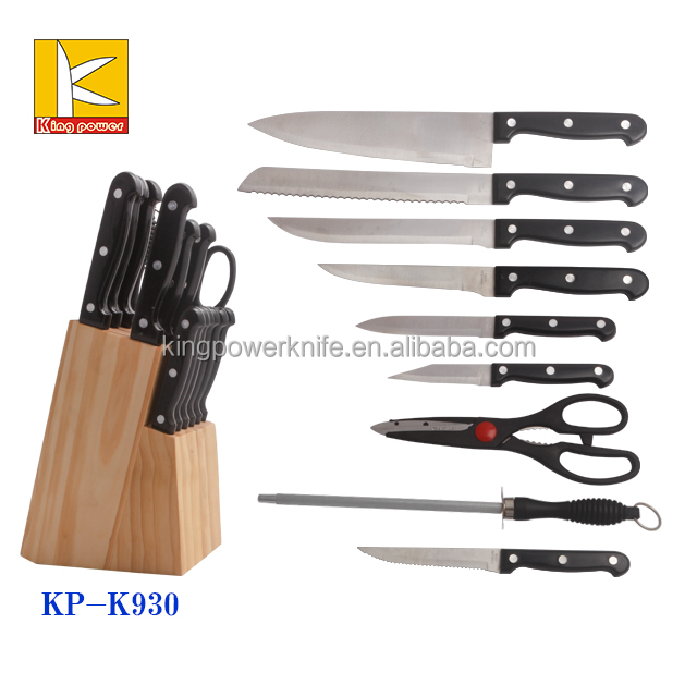 2016 as seen on tv kitchen 9pcs stainless steel knife set with pp handle