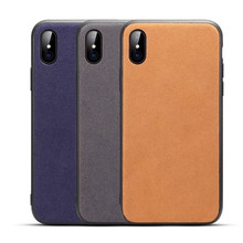 Luxury high quality pu leather cell phone back cover case for iPhone X