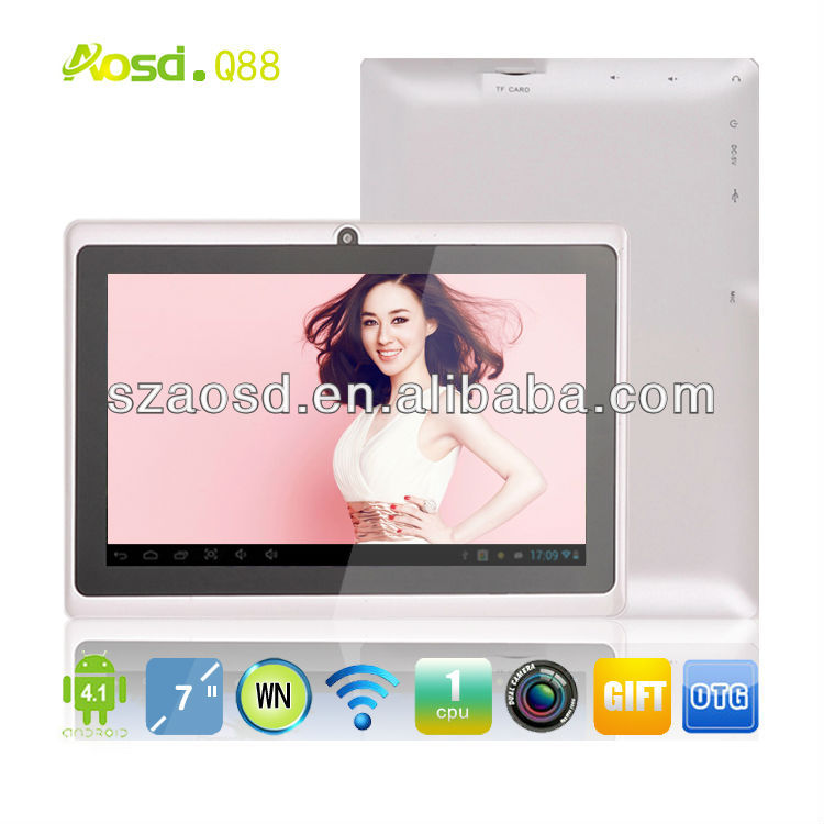 7'' Andorid Laptop 512MB+4GB 1.2GHz Atm7021 dual core Tablet Q88