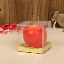 Small cube plastic box pvc cake packing box apple box for Christmas