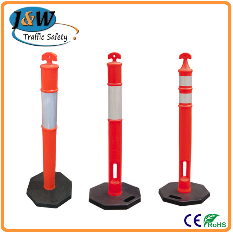 Florescent Orange Crowd Control Flexible Delineator Barrier