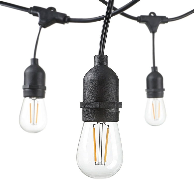 33ft/10 M IP65 Waterproof Commercial Grade String Light With 10 S14 LED Filament Bulbs