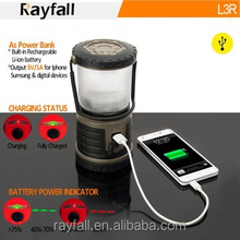 Xmas gifts outdoor activities led energy camping lantern with mobile charger