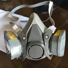 hot selling 6200 double carbon filter half face gas mask