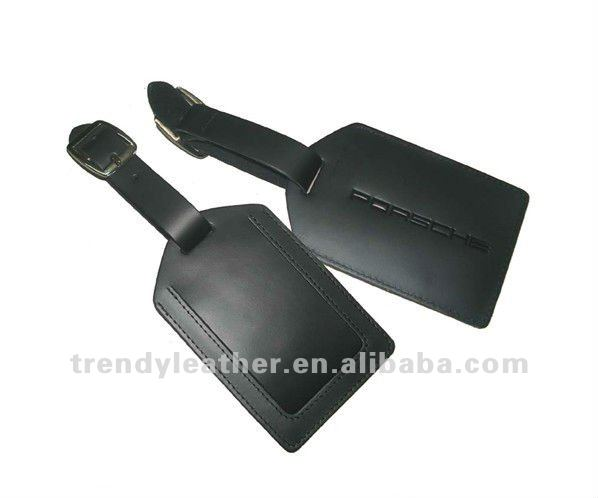 Customized real leather sample luggage tag