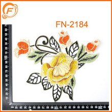 embroidery flower patch neck work designs