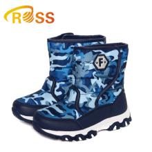 Retail Flamingo Kids Snow Boot Army Military Camouflage Style for Boy Wool Boots