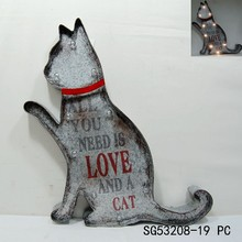 most popular LED wall hanging iron cat decor