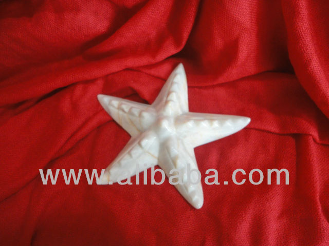 Hand Crafted Marble Starfish Paper Weight Gift Items