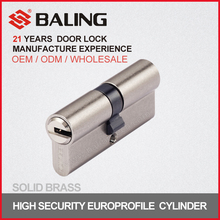 Euro profile high precision snaky groove security lock cylinder QM keyway