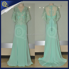 Newest Fashion Lace Appliqued Beaded Green Evening Dresses 2016 Mermaid Dresses
