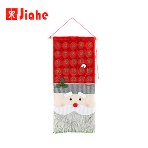 Wholesale red felt xmas christmas custom advent calendar
