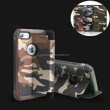 Army Camouflage Phone Cover Cases For iPhone 4 4s 5 5s SE 6 6s 7 7G 7 Plus Camo Flip PU Leather TPU bag Cover For iPhone