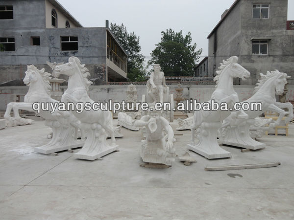 Large Carved Marble Garden Fountain