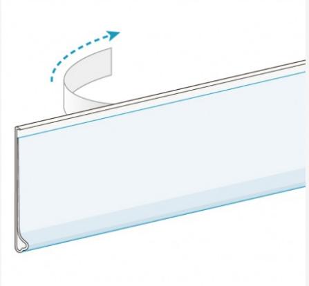 drugstore pvc shelf price tag holder for shelf channel. Black Bedroom Furniture Sets. Home Design Ideas