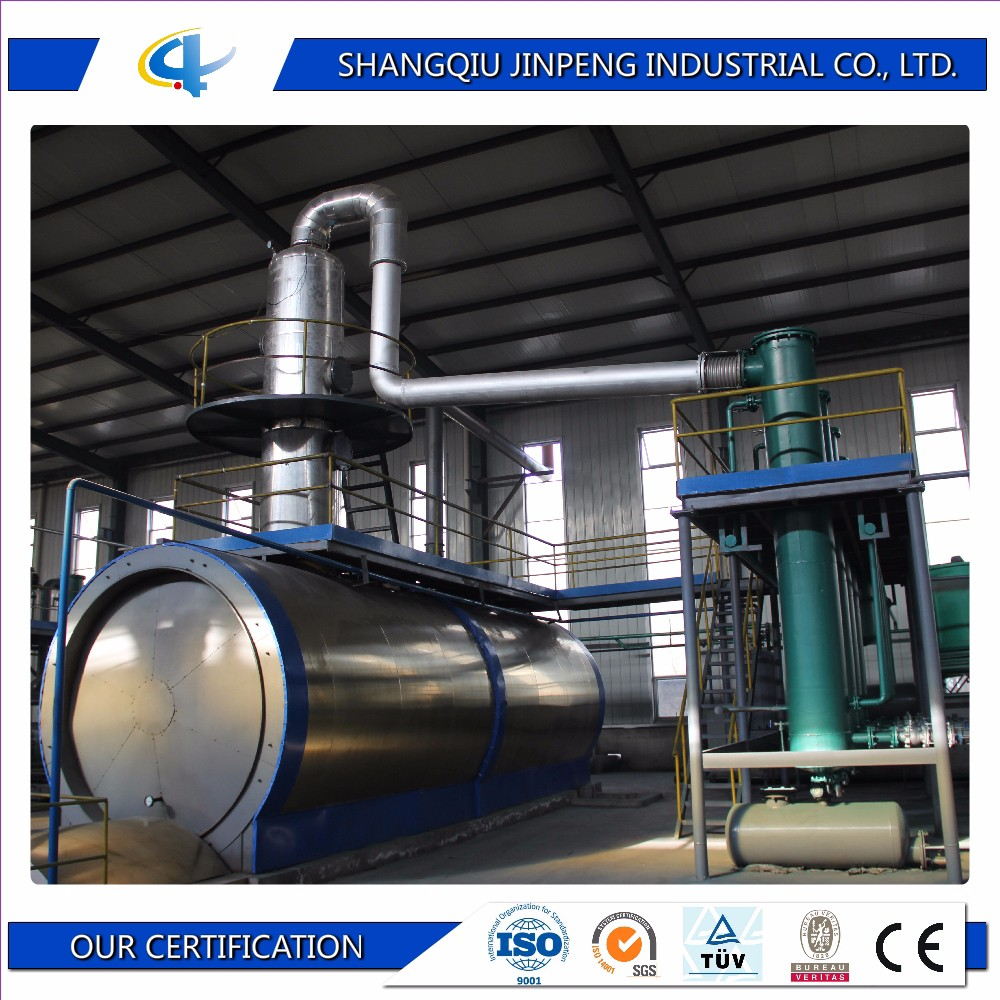 Fully Automatic Distillation Oil Plant Pyrolysis Plant Plastic Waste Recycling to Oil Machine