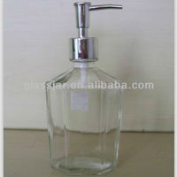 liquid soap glass bottle with sprayer