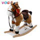 New baby children plush animal horse toys, custom adult spring rocking horse wood with wheels