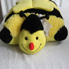 cutom plush pillow bee stuffed plush animal toy pillow yellow