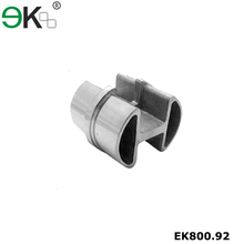 Stainless steel pipe fitting 180 degree double slot round tube connector