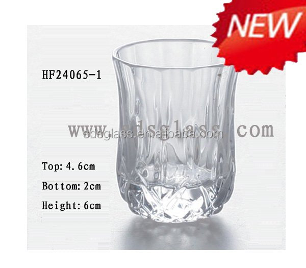 glass water cup disposable clear cheap glass coffee cup with metal holder china