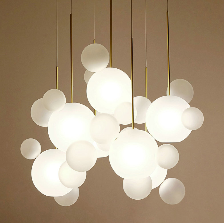 Modern White Bubbles Decorative Glass Hanging Pendant <strong>Light</strong>