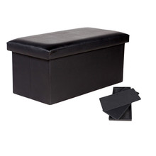 Hot Selling Bed Seat Stool Leather Folding Large Storage Box