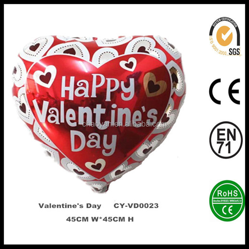 "Wholesale 18"" Valentines Day Foil Balloon,inflatable helium balloon,party decoration balloon"