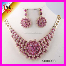 High Quality New Design Fashion Amber Trendy Real Flower Jewelry Sets Wholesale OEM Orders Welcomed