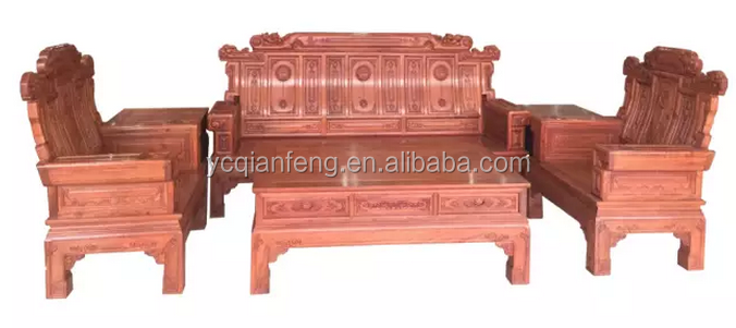 Luxury Solid wood Sofa-6Pcs set