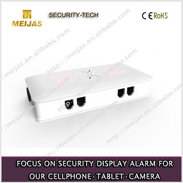 Mobile Phone Security Alarm System With 6 Usb Ports Display Exhibition holder