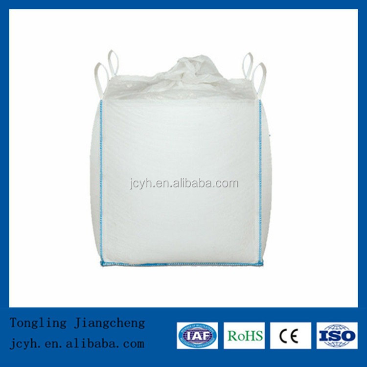 cheap fibc bag wholesale, 1 ton 1.5 ton plastic jumbo bag, white pp bulk bag for rice,flour,sugar