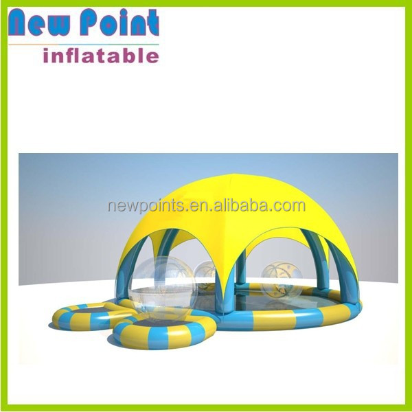 square sunshine tent inflatable water fun pool for kids
