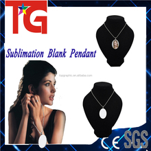 blank for dye Sublimation Pendants ,metal pendants for heat press machine printing images
